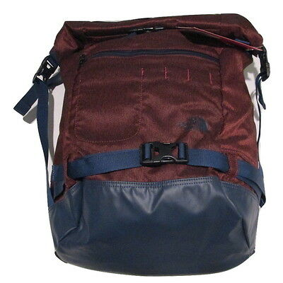 80a23d216 NWT The North Face Pickford Rolltop Laptop Backpack - Red Heather/Cosmic  Blue 715752689990   eBay
