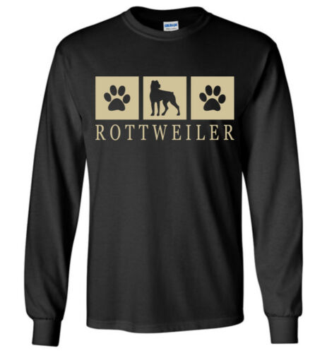 Tank Rottweiler Silhouette T-Shirt Tee Youth Short Long Sleeve Men Women