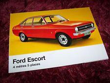 Prospectus / Brochure FORD Escort 1977 //