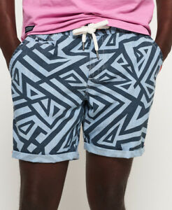 acd72c1f40 Image is loading New-Mens-Superdry-Sunscorched-Shorts-Geo-Chambray