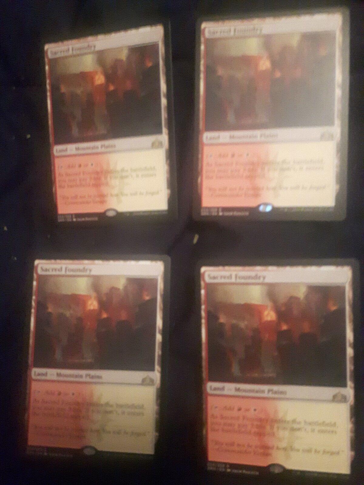 Magic the Gathering  Sacred Foundry x4 - - - Guilds of Ravenica - MTG b7e0ba