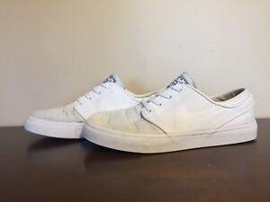c429e4875d6 Nike SB Zoom Stefan Janoski Canvas White Shoes - Men s Size 6.5 ...