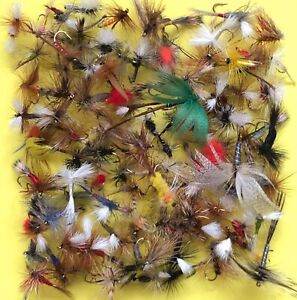 Assortment-Fly-Fishing-Trout-Flies-Dry-Wet-Nymphs-Streamer-Qty-12-30-60-120