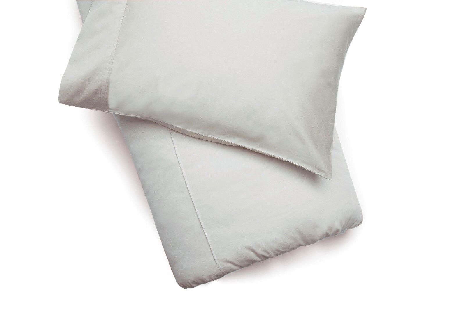 450Thread Count Pima Cotton Double Bed Duvet Cover in Platinum grau