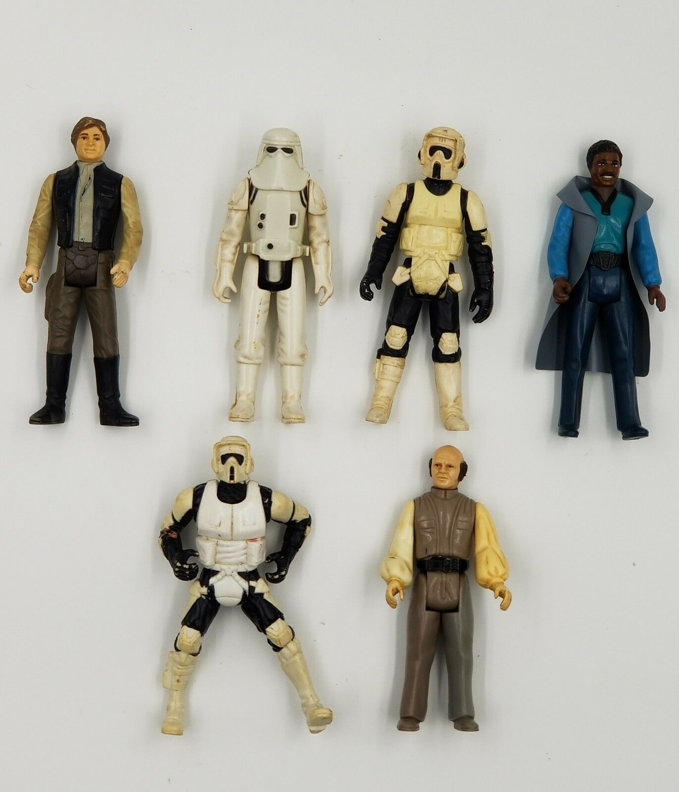 Vintage Vintage Vintage Star Wars Figures 1980s Lot Of 6 Hong Kong Hans Solo,StormTropper 867074
