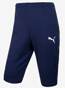 10b01671b Puma Men LIGA Training 3/4 Shorts Pants Navy Running Soccer GYM Pant ...