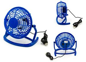 USB Ventilateur Mini Table Ventilateur Ventilateur Bureau Fan en Bleu Ordinateur Portable PC 							 							</span>