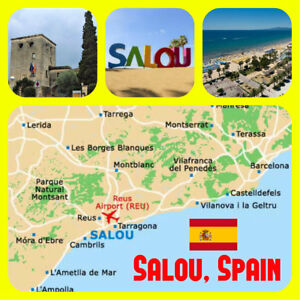 Map Of Spain Showing Salou.Salou Spain Map Souvenir Novelty Big Square Fridge Magnet New