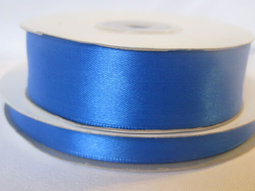 Royal Bleu Double face ruban de satin 3 mm 10 mm 16 mm 25 mm Artisanat Cartes Mariage