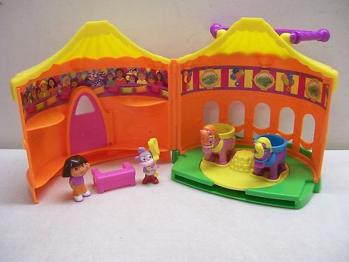 DORA BOOTS CIRCUS TENT HOUSE PLAYSET PLAY SET W FIGURES