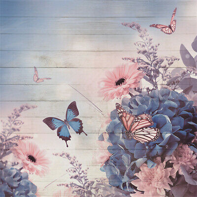 5x7ft Chinese Traditional Painting Flowers Butterfly Photography Background Computer-Printed Vinyl Backdrops