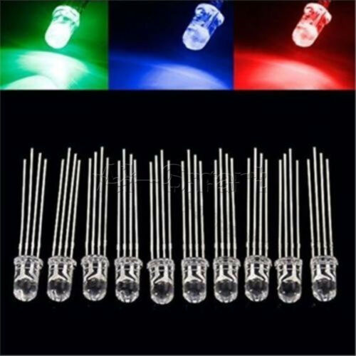 20//50//100PCS 5mm 4pin RGB Diffused Tri-Color Common Anode LED Red Green Blue New