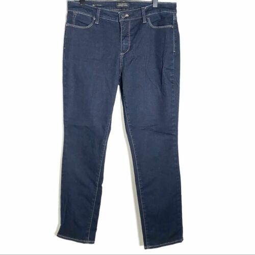 Talbots dark wash Flawless straight legged jeans s