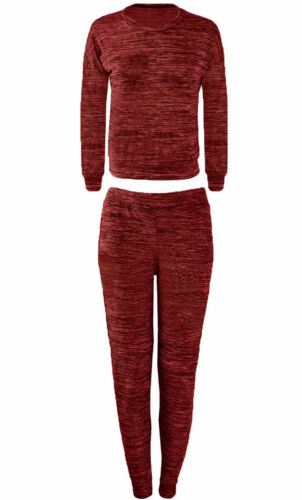 Para Mujer jaspeado Camuflaje Imprimir Plain loungewear chándal ligero chándal Set