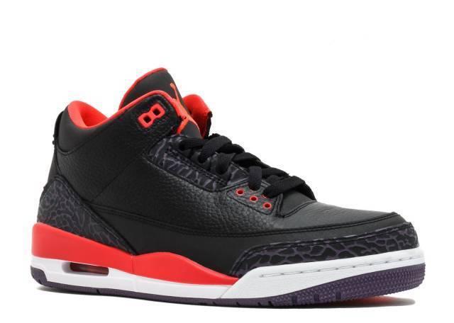 2018 Crimson Nike Jordan 3 Retro Air Negro Crimson 2018 púrpura cemento og 136064005 096128