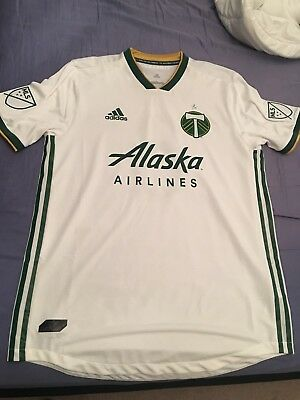 official photos 24b6a 1f71a Men's Portland Timbers Diego Valeri adidas White 2018 Secondary Authentic  Jersey | eBay