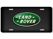Land Rover Aluminum Car Auto License Plate Abstract Art British Carbon Gradient