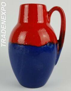 Vintage-1960s-SCHEURICH-KERAMIK-Vase-414-16-Fat-Lava-Era-West-German-Pottery