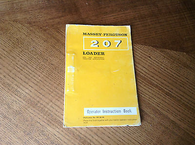 Open-Minded Mf 207 Loader Operators Instruction Book Factory Direct Selling Price Agriculture/farming