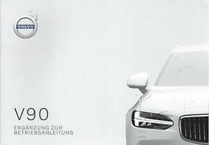 VOLVO-V90-Ergaenzung-zur-Betriebsanleitung-2020-Bedienungsanleitung-Handbuch-BA