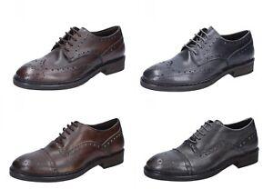 CESARE MAURIZI scarpe uomo classiche in pelle color grigio e marrone ... aec277ef94e