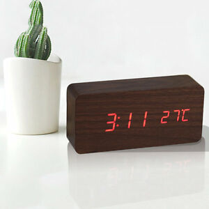 LED-Wooden-Alarm-Clock-Time-Thermometer-Snooze-Voice-Control-Digital-Table-CloAY