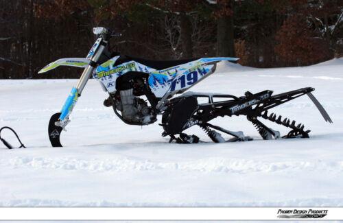 TIMBERSLED Snow Bike Husqvarna Rear Snow Flap by PDP /_ WHITE Logo