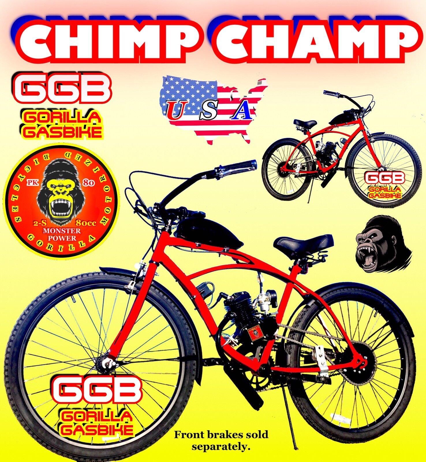 66cc 80cc 2-stroke motorized bike Kit And 26  Cruiser Bike Motor Bike Kit moped