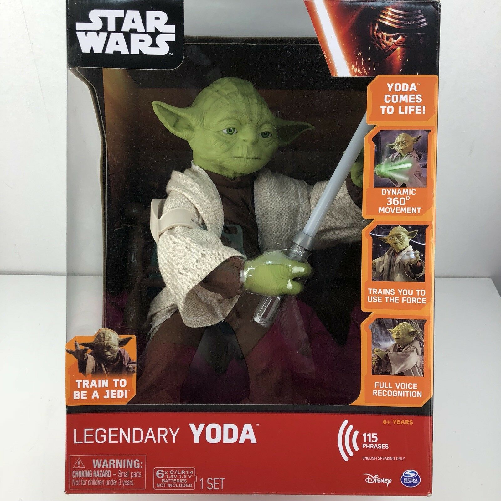 Star Wars Legendary Jedi Master Yoda Full Voice Recognition, 360-degree movement