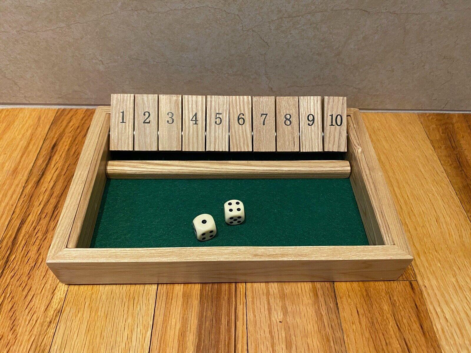 Classic Wooden Shut the Box Educational Dice Game ~ 100% Complete ~ No Box ~ EUC 2