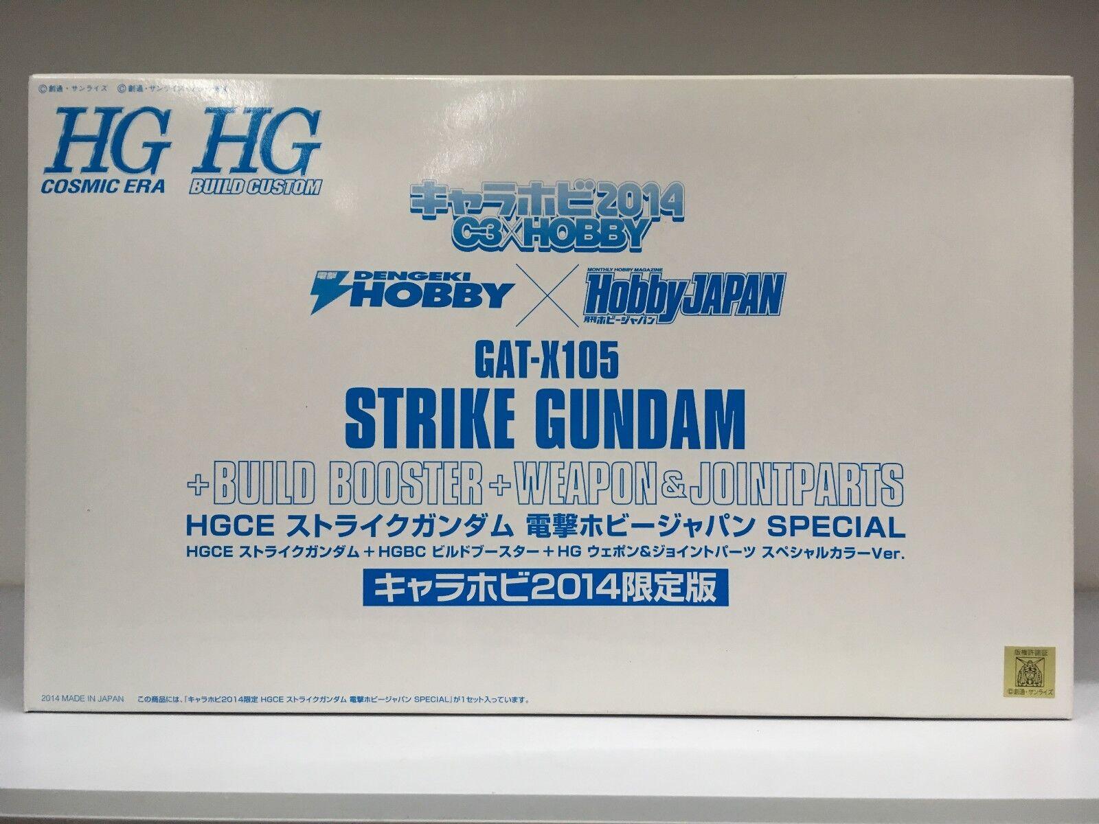 Bandai C3 Expo HGCE GAT -X105 Strike Gundam Bygg boostervapen