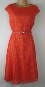 New-Wallis-Coral-Lace-Fit-amp-Flare-dress-Uk-size-8-18