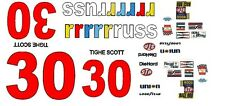 #30 Tighe Scott rrrrrruss 1979 1/43rd Scale Slot Car Waterslide Decals