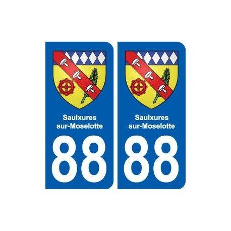 88 Saulxures-sur-Moselotte blason autocollant plaque stickers ville arrondis