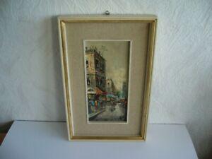 Gemaelde-Stadtbild-Strassenszene-Paris-Frankreich-signiert-Impressionismus
