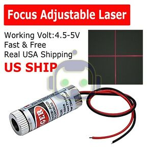 Focusable-5mW-650nm-Red-Cross-Line-Laser-Module-Focus-Adjustable-laser-Head