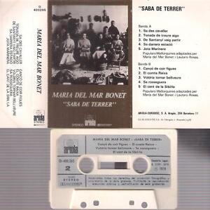 MARIA-DEL-MAR-BONET-Saba-de-terrer-DIFICIL-CASSETTE-PAPER-LABEL-1979