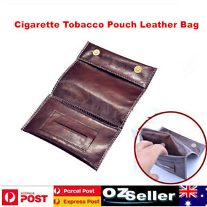 Cigarette Tobacco Pouch Leather Bag Wallet Case Holder Filter Rolling Paper Gift 6901035648059