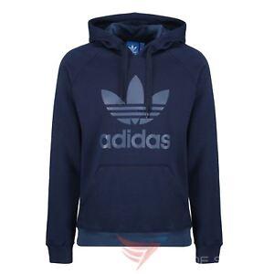 Adidas-Originals-Trefoil-Hoodie-navy-weiss-Groessen-S-M-L-XL-Pullover-Herren-Warm