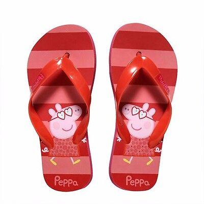 Peppa Wutz Zehentrenner 23-30 Badelatschen Schuhe Sandalen Badeschuhe Pig Flip