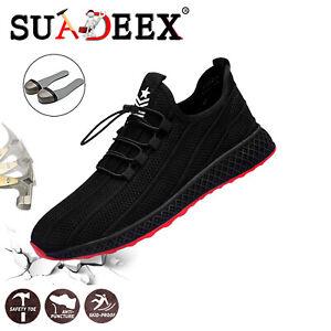 Suadeex Chaussures De Sécurité Homme De Travail Légèr Respirant Embout D'acier La Consommation RéGulièRe De Thé AméLiore Votre Santé