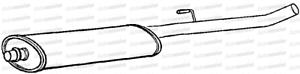 Fiat Ulysse 2.0 Rfn Ew10J4 Mpv 00-01 Exhaust Silencer Box Centre Pipe
