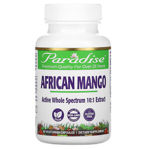 Paradise Herbs African Mango 60 Veggie Caps Gluten-Free, Preservative-F