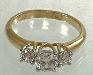 Gold-Plated-Promise-Ring-Engagement-Cubic-Zirconia-size-4-6-7-9-10-11-12-RI