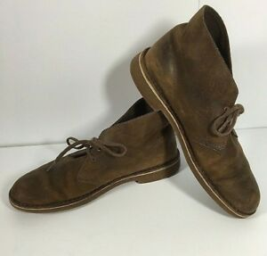 CLARKS BROWN SUEDE Leather Lace Up Mid