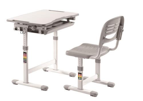 """Grau Weiß Vipack Mitwachsender Kinder-Schreibtisch mit Stuhl /""""COMFORTLINE/"""""""