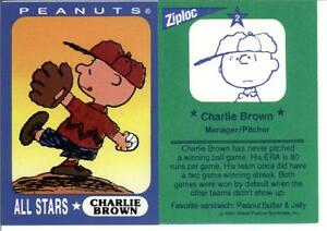 Details About 1990s Peanuts Ziploc Baseball Card Charlie Brown Manager 2