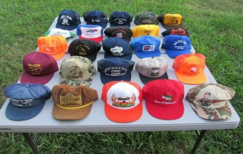 LARGE LOT OF 25 VINTAGE 1980s TRUCKER CAPS HATS, G