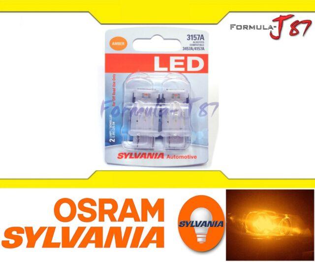 Sylvania Superior Luz LED 4157 Ámbar Naranja Dos Bombillas Luz Diurna Repuesto