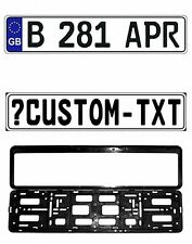 New Great Britain/UK EEC European Front License Plate (Custom) & Mounting Frame
